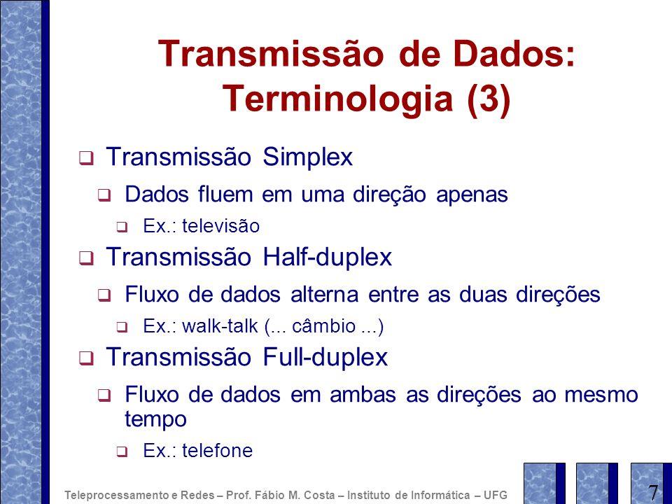 Transmissão de Dados: Terminologia (3)