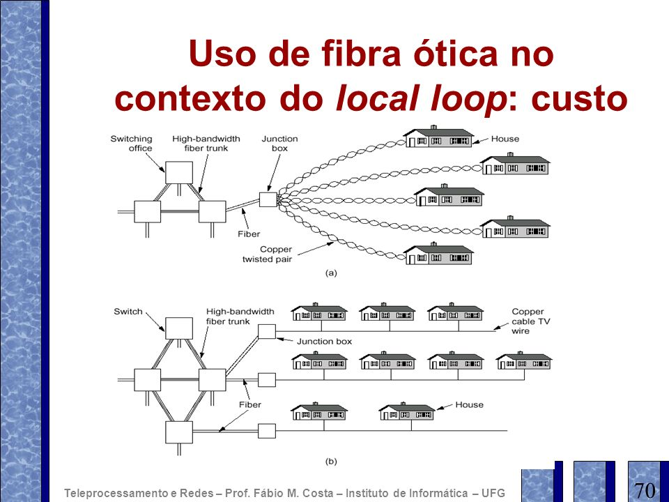Uso de fibra ótica no contexto do local loop: custo