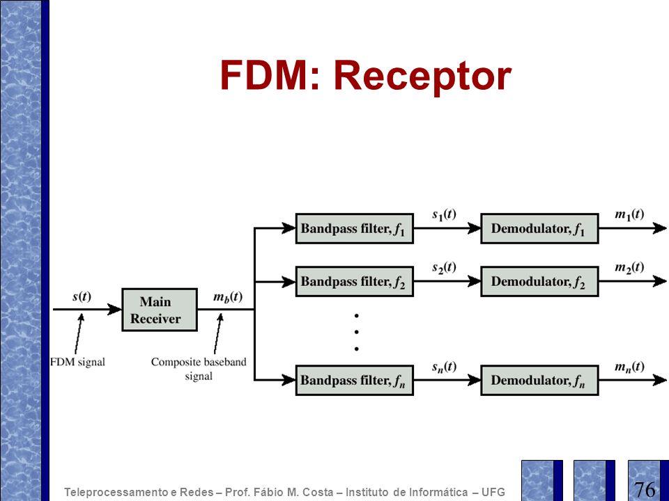 FDM: Receptor 76 Teleprocessamento e Redes – Prof. Fábio M. Costa – Instituto de Informática – UFG