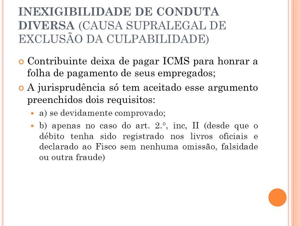 INEXIGIBILIDADE DE CONDUTA DIVERSA (CAUSA SUPRALEGAL DE EXCLUSÃO DA CULPABILIDADE)