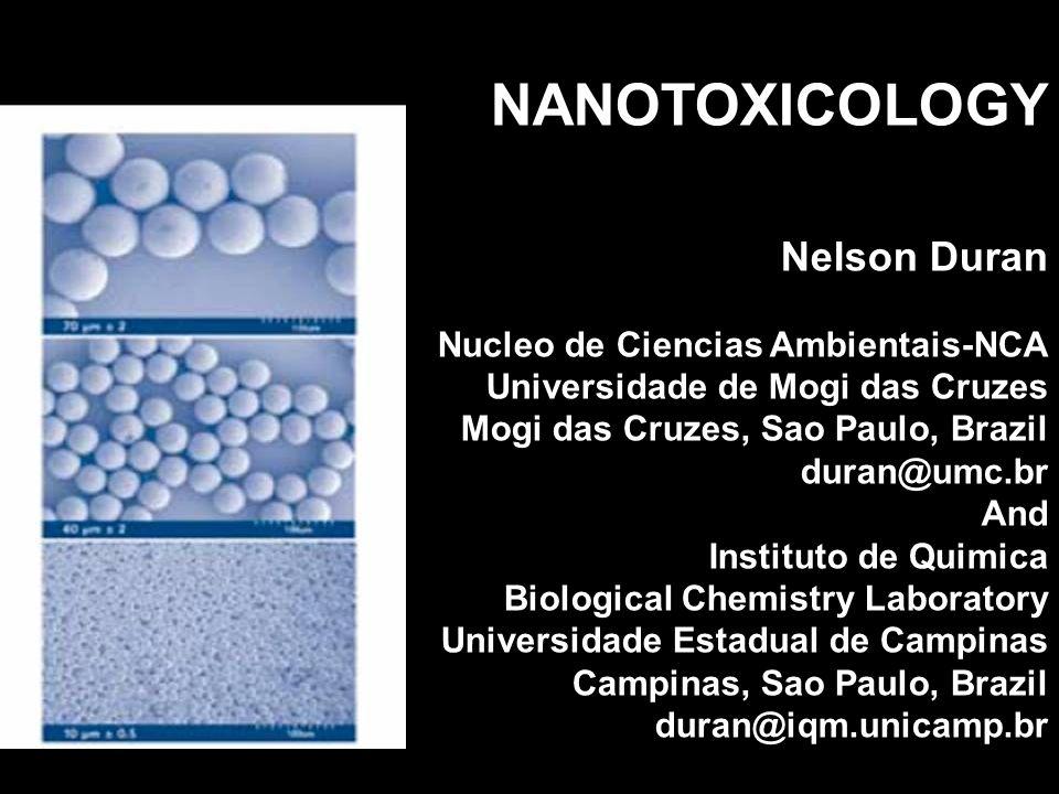 NANOTOXICOLOGY Nelson Duran Nucleo de Ciencias Ambientais-NCA