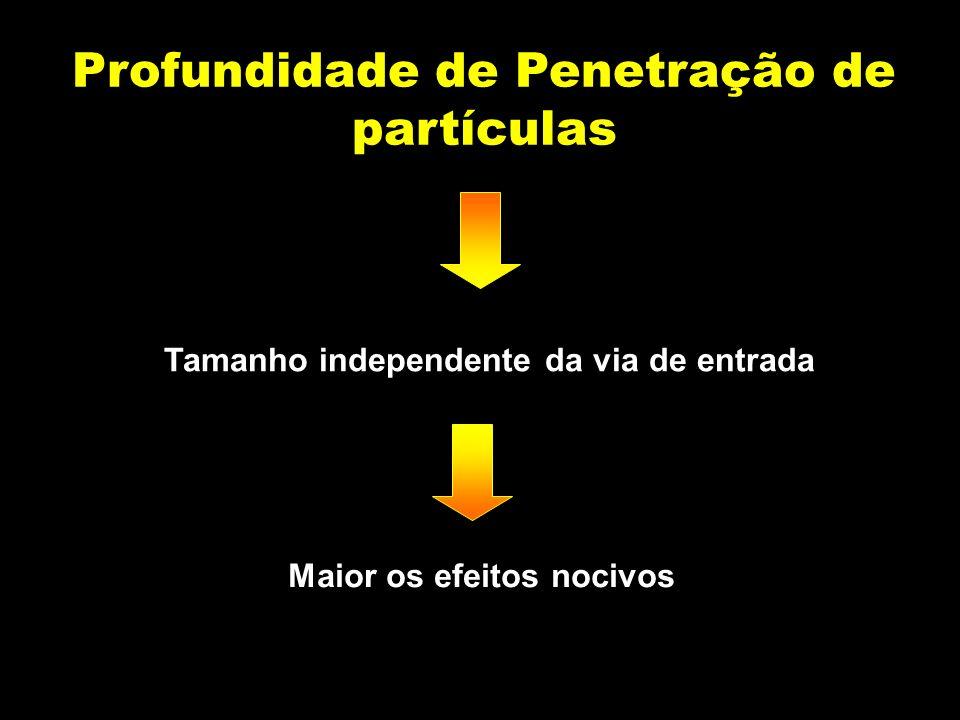 Profundidade de Penetração de partículas