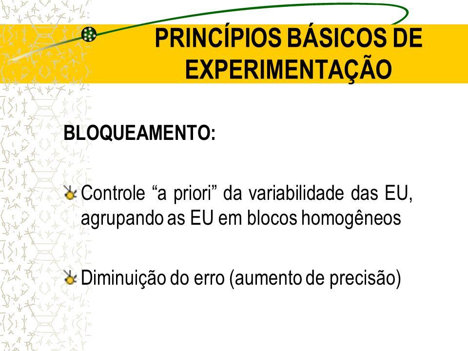 PRINCÍPIOS BÁSICOS DE EXPERIMENTAÇÃO