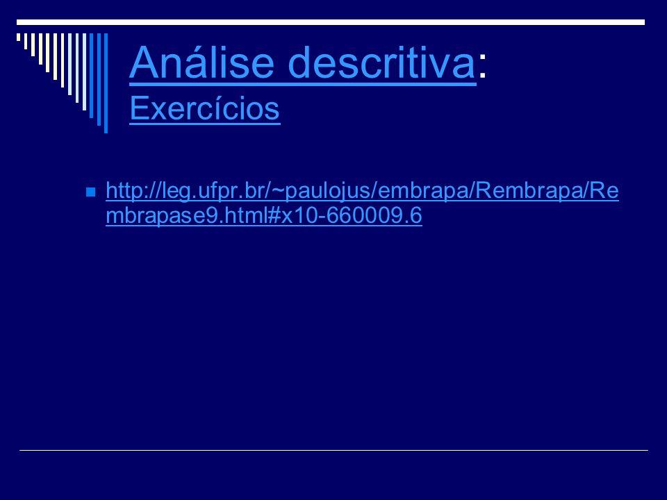 Análise descritiva: Exercícios