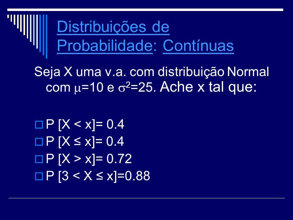 Distribuições de Probabilidade: Contínuas