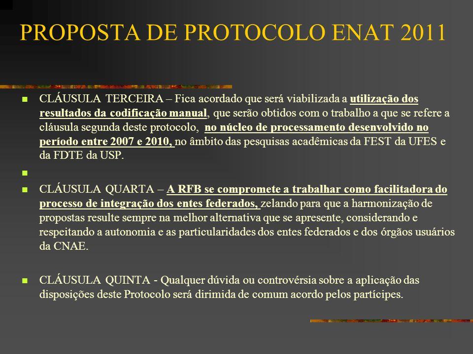 PROPOSTA DE PROTOCOLO ENAT 2011