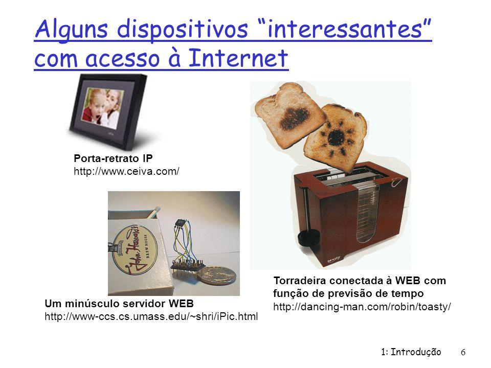 Alguns dispositivos interessantes com acesso à Internet
