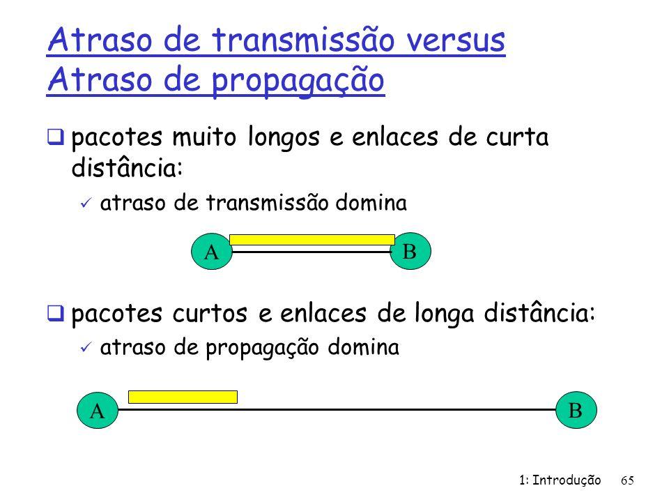 Atraso de transmissão versus Atraso de propagação