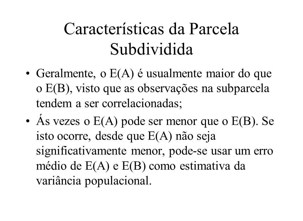 Características da Parcela Subdividida