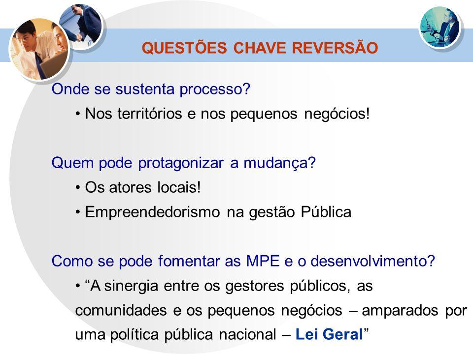 QUESTÕES CHAVE REVERSÃO