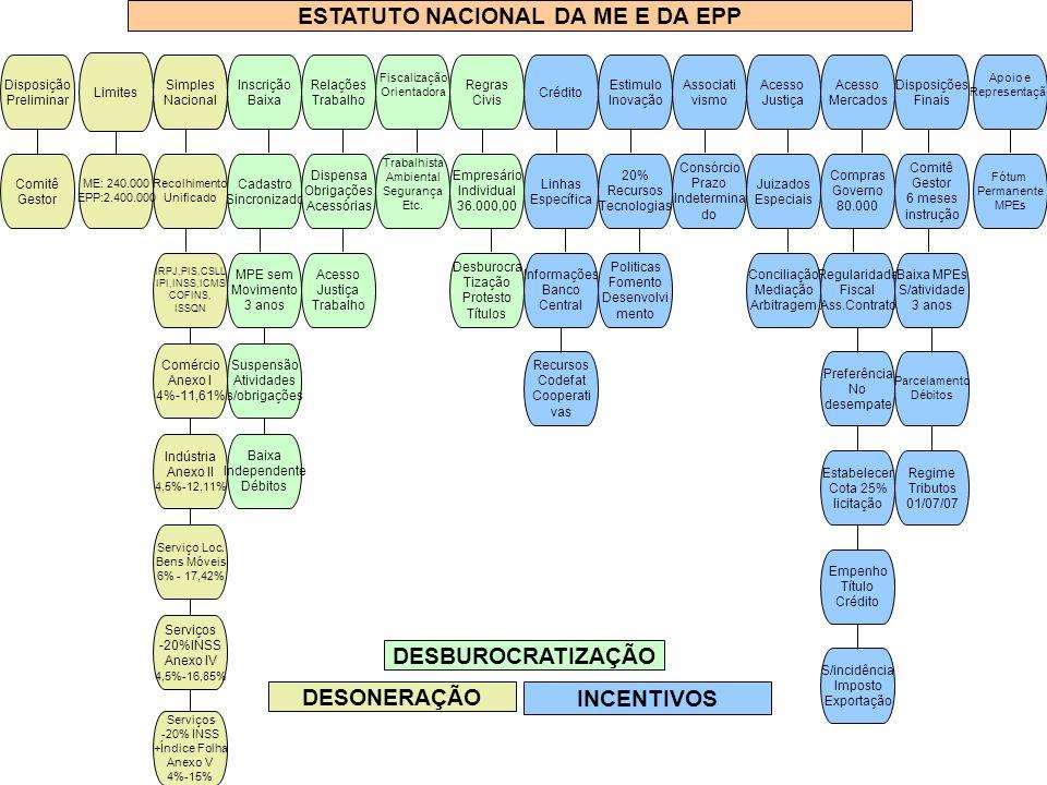 ESTATUTO NACIONAL DA ME E DA EPP