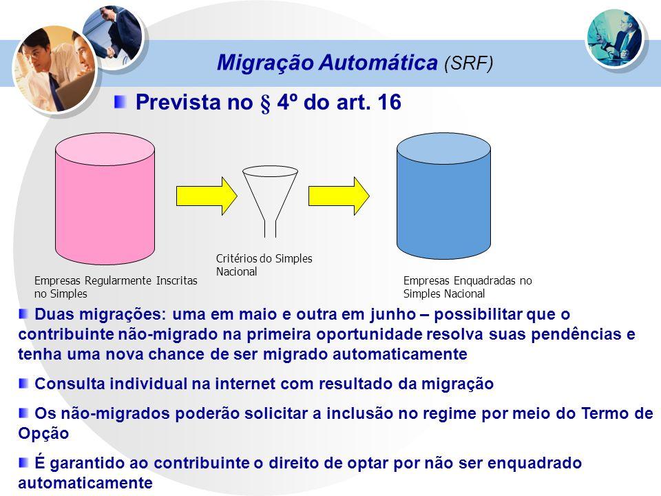 Migração Automática (SRF)