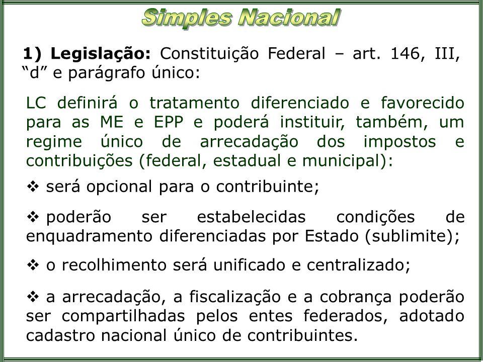 1) Legislação: Constituição Federal – art