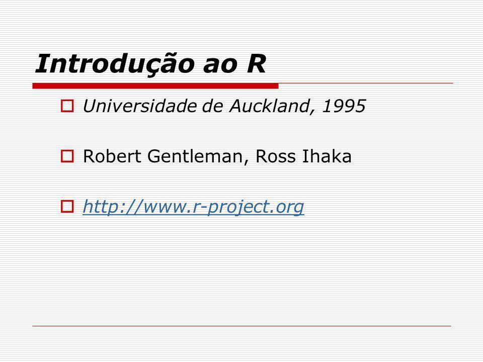 Introdução ao R Universidade de Auckland, 1995