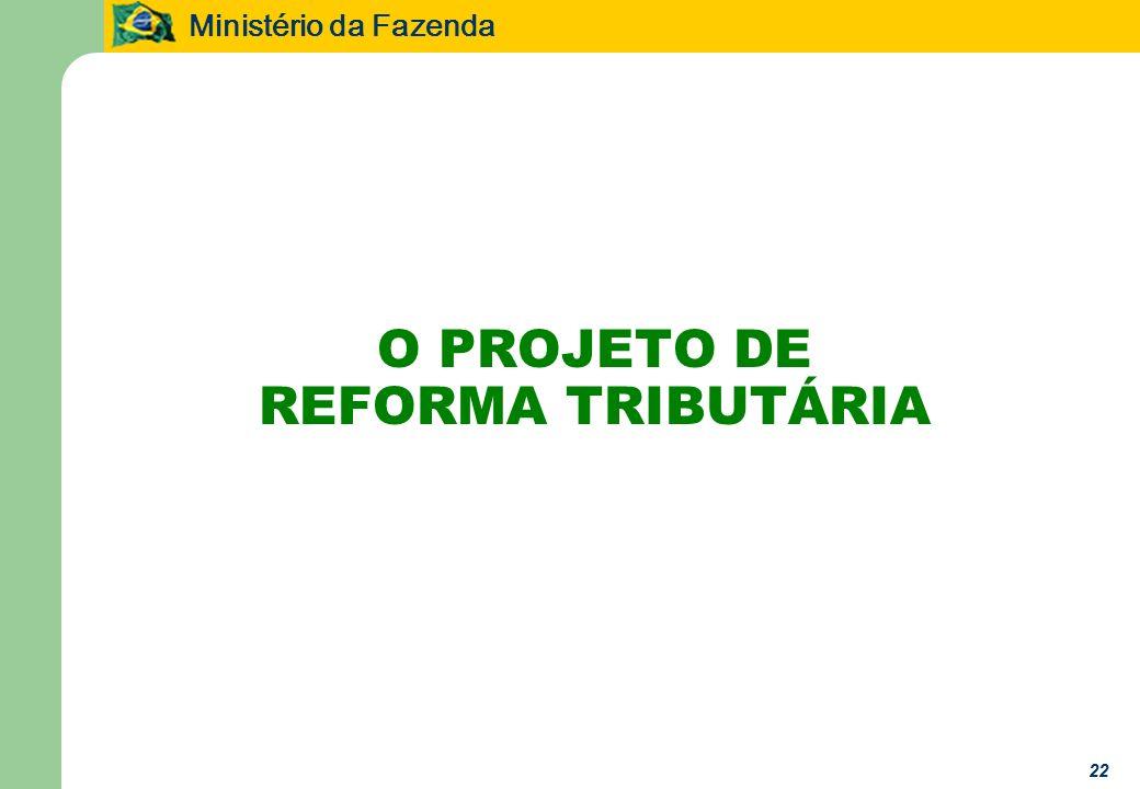 O PROJETO DE REFORMA TRIBUTÁRIA