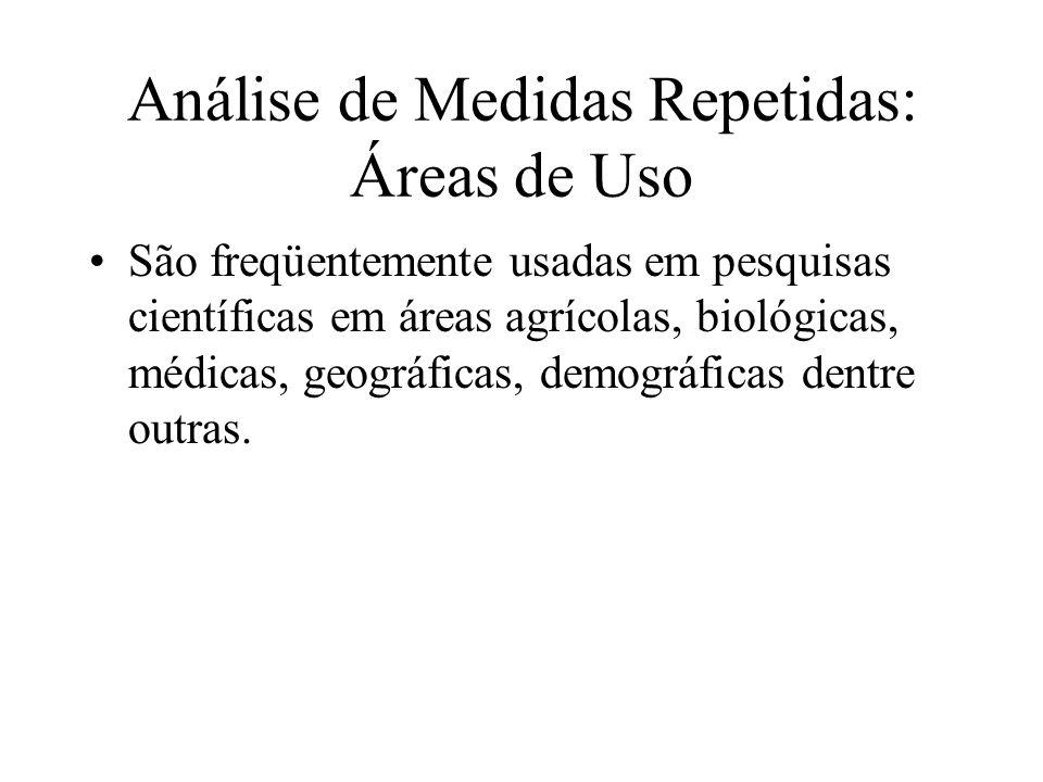 Análise de Medidas Repetidas: Áreas de Uso