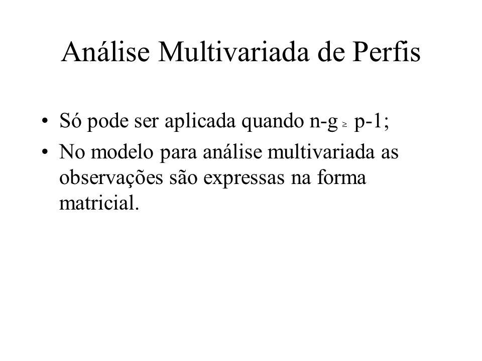 Análise Multivariada de Perfis
