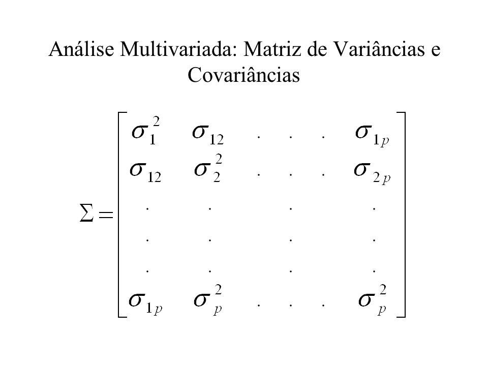 Análise Multivariada: Matriz de Variâncias e Covariâncias