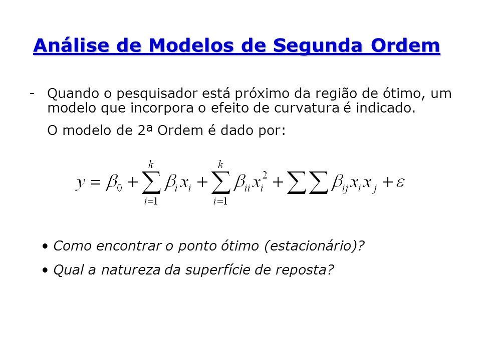 Análise de Modelos de Segunda Ordem