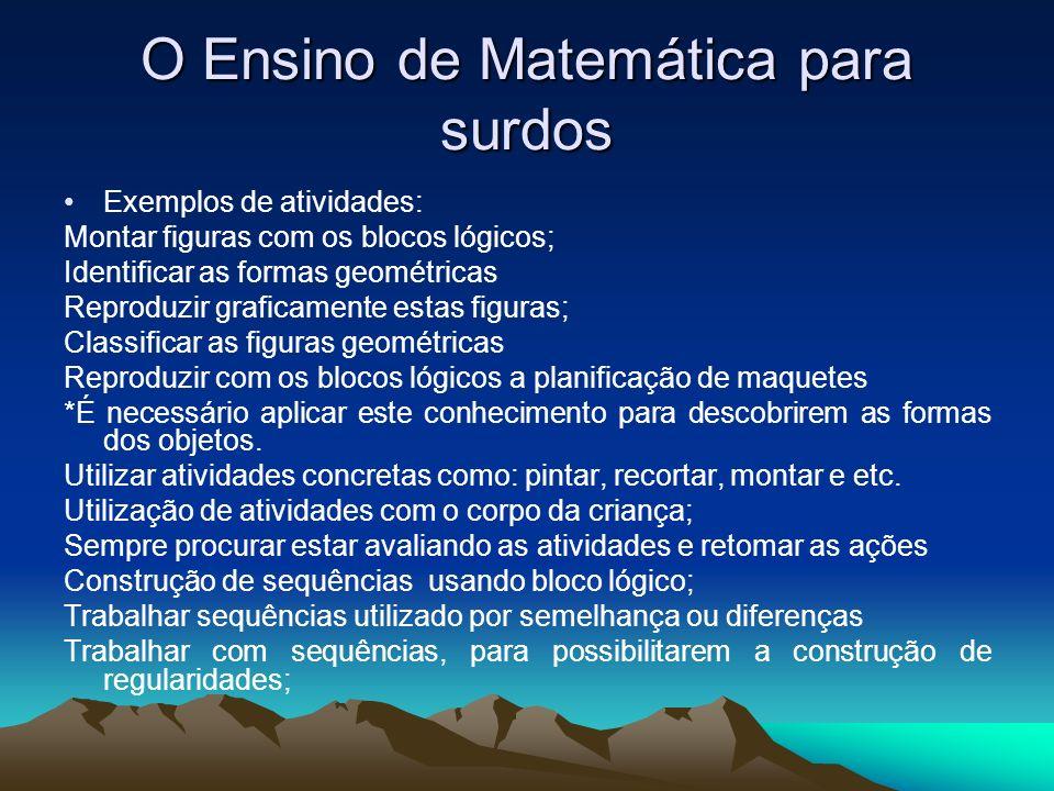 O Ensino de Matemática para surdos