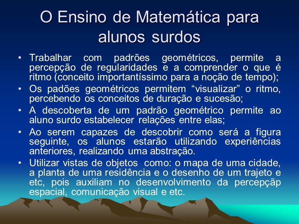 O Ensino de Matemática para alunos surdos