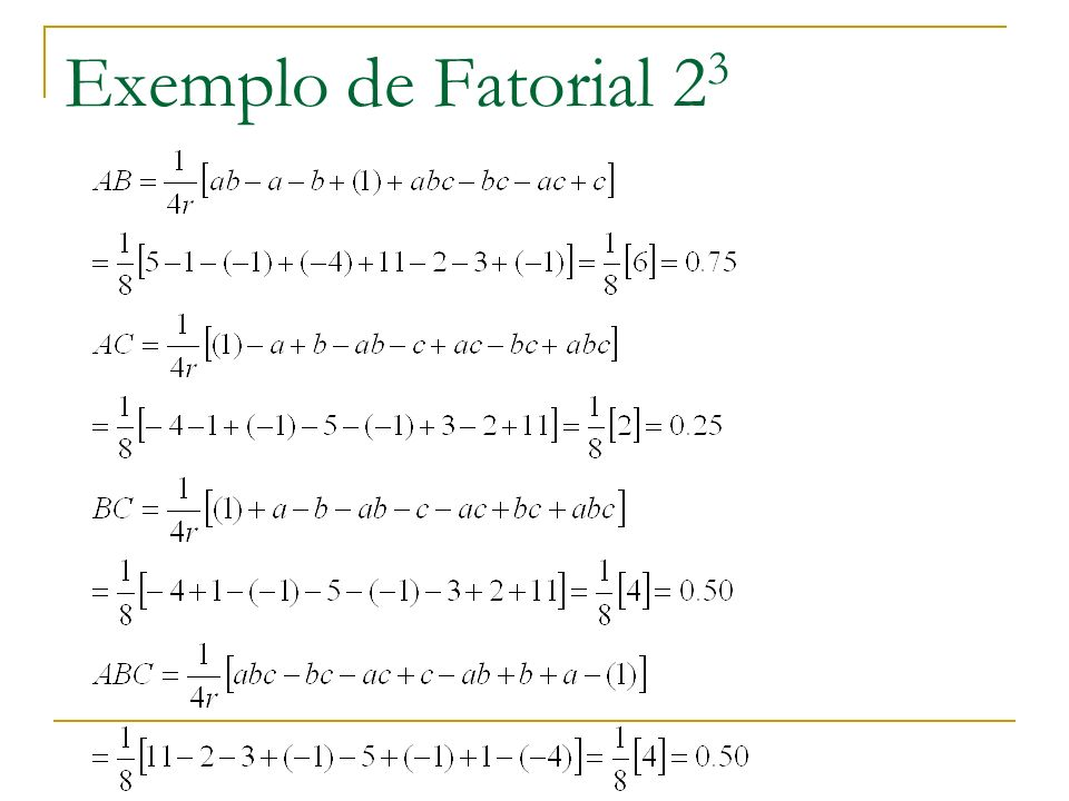 Exemplo de Fatorial 23