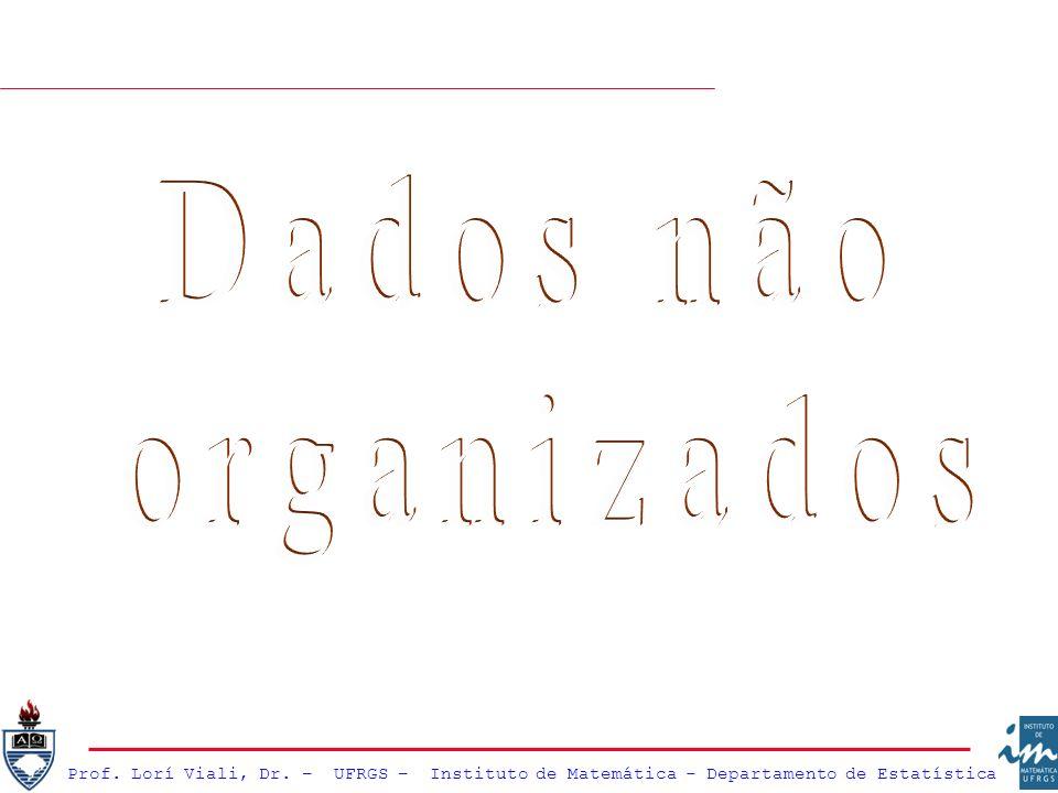 Dados não organizados