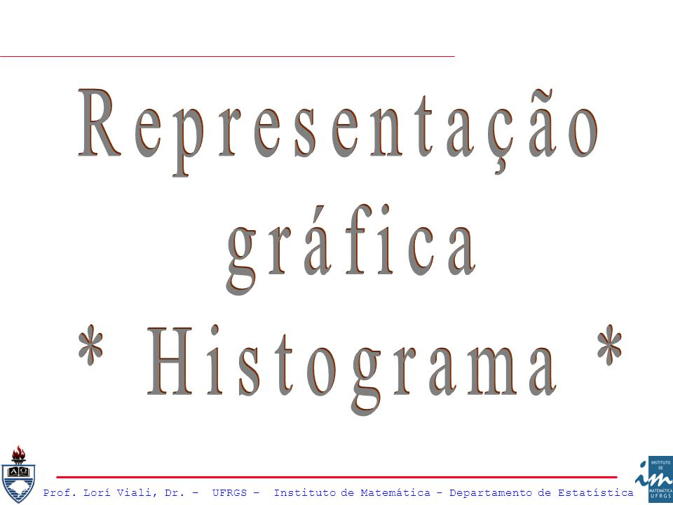 Representação gráfica * Histograma *