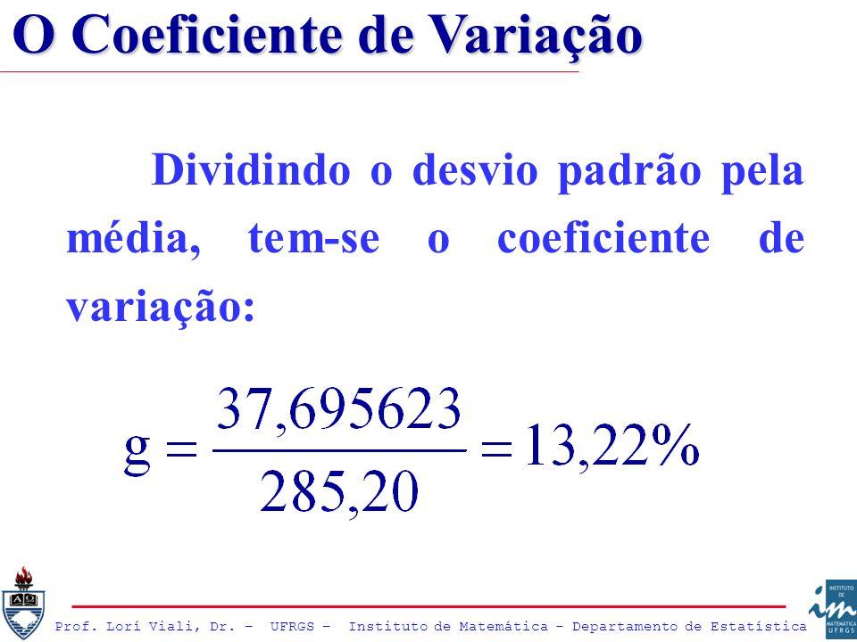 O Coeficiente de Variação