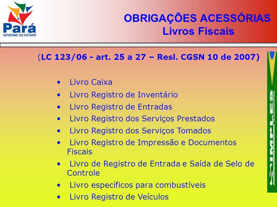 OBRIGAÇÕES ACESSÓRIAS Livros Fiscais