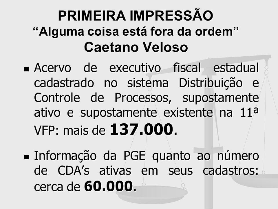 PRIMEIRA IMPRESSÃO Alguma coisa está fora da ordem Caetano Veloso