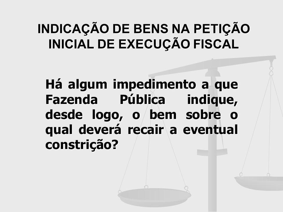INDICAÇÃO DE BENS NA PETIÇÃO INICIAL DE EXECUÇÃO FISCAL
