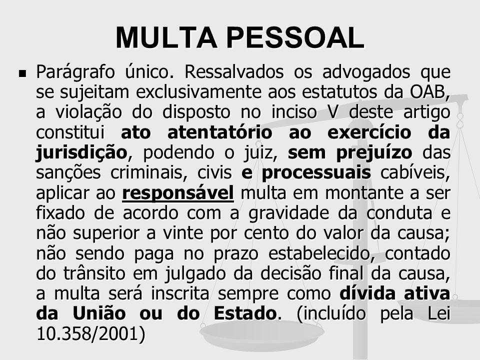 MULTA PESSOAL