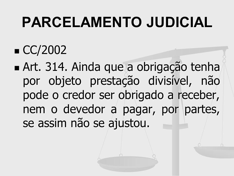 PARCELAMENTO JUDICIAL