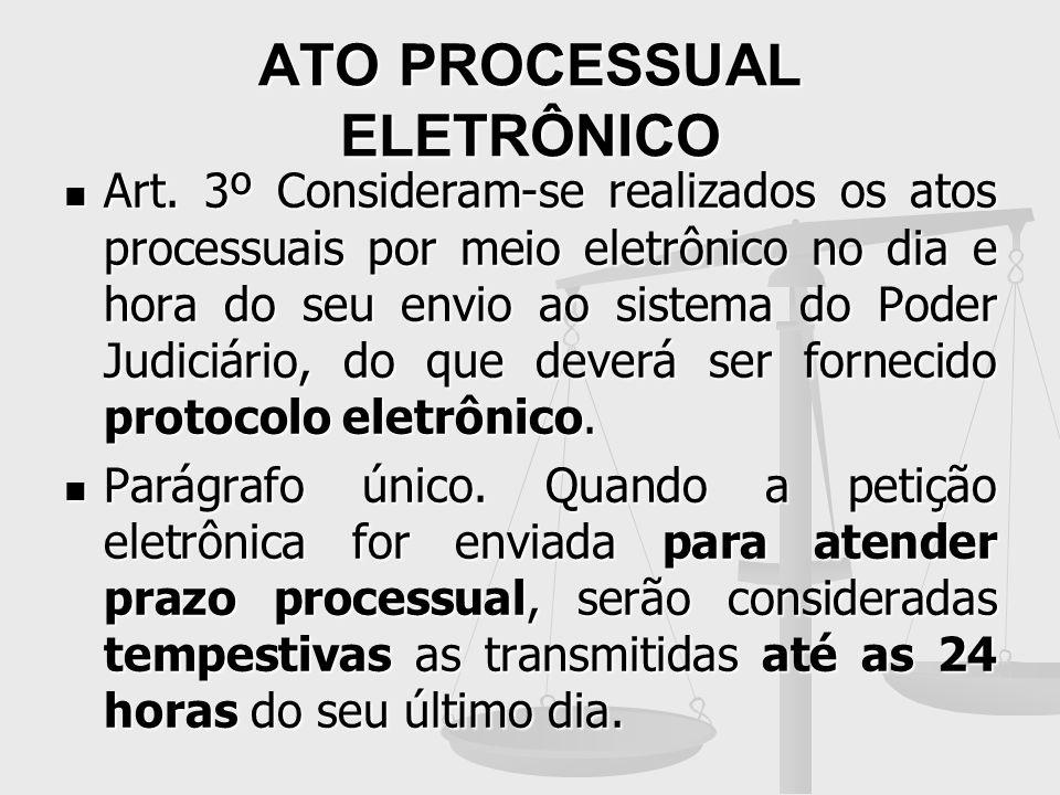 ATO PROCESSUAL ELETRÔNICO