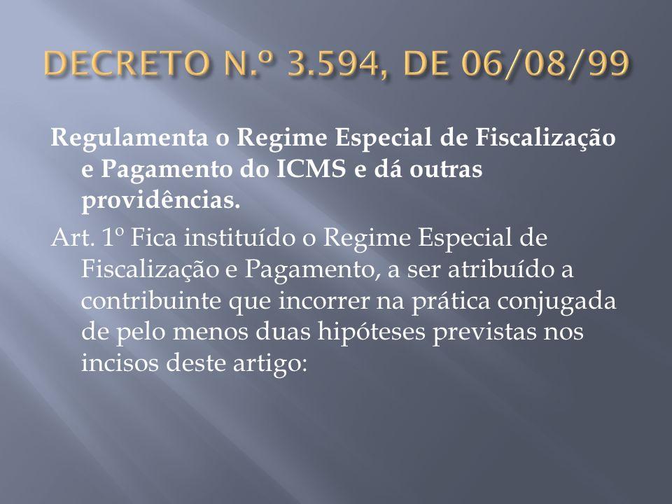 DECRETO N.º 3.594, DE 06/08/99
