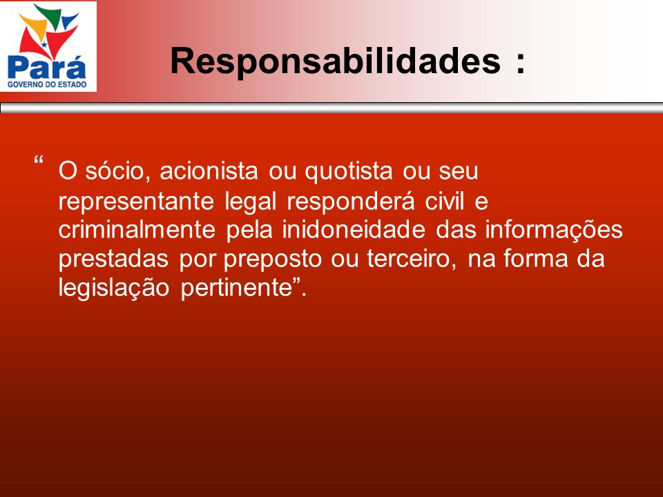 Responsabilidades :