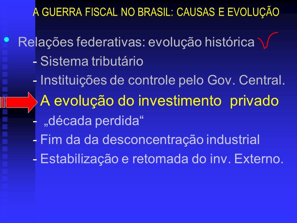 A GUERRA FISCAL NO BRASIL: CAUSAS E EVOLUÇÃO