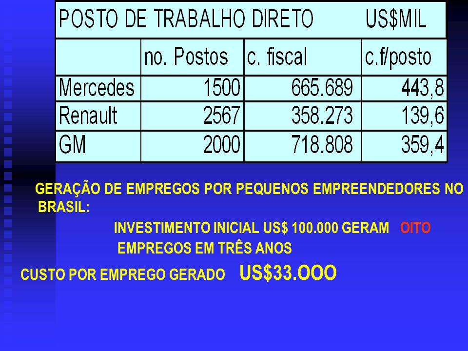 GERAÇÃO DE EMPREGOS POR PEQUENOS EMPREENDEDORES NO BRASIL: