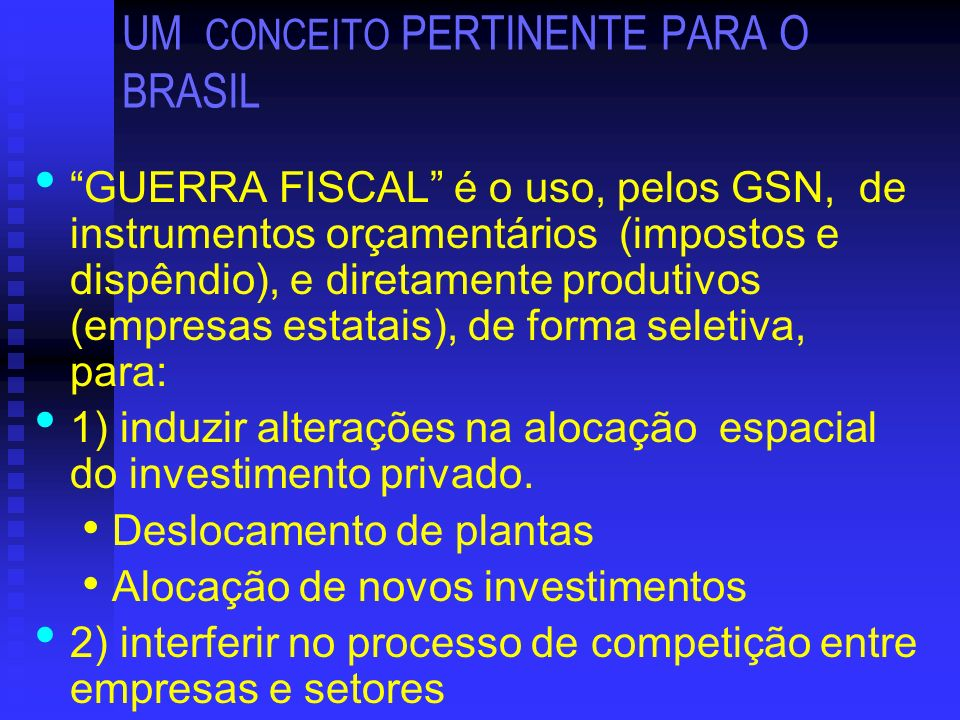 UM CONCEITO PERTINENTE PARA O BRASIL