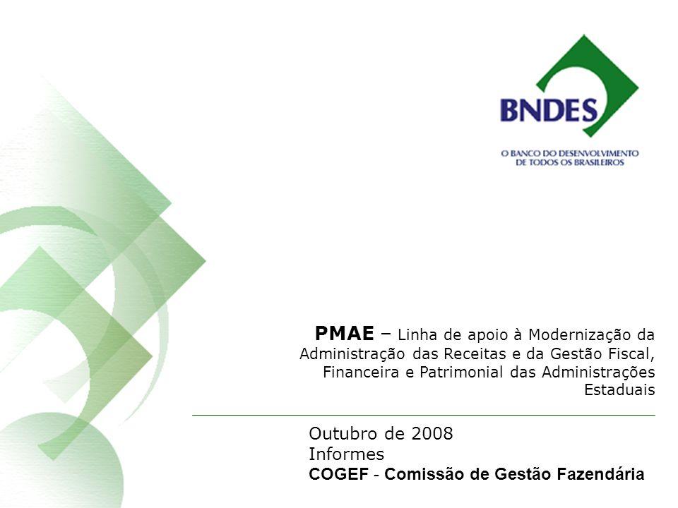 PMAE – Linha de apoio à Modernização da Administração das Receitas e da Gestão Fiscal, Financeira e Patrimonial das Administrações Estaduais