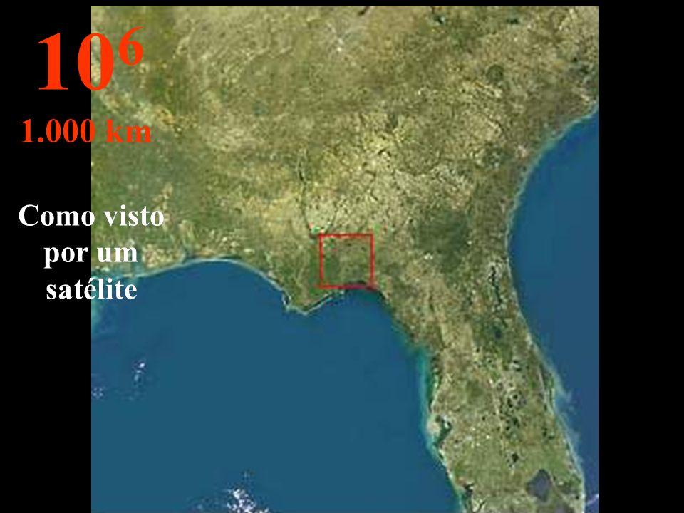 Como visto por um satélite
