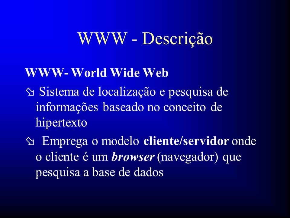 WWW - Descrição WWW- World Wide Web