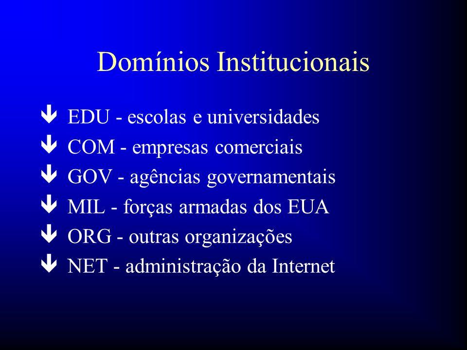Domínios Institucionais