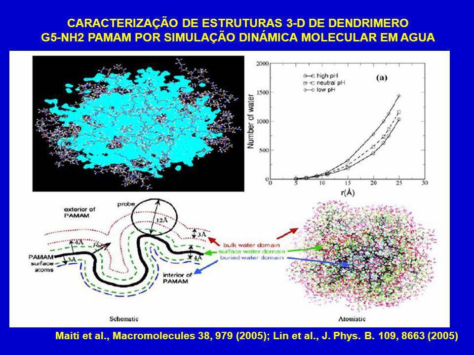 CARACTERIZAÇÃO DE ESTRUTURAS 3-D DE DENDRIMERO