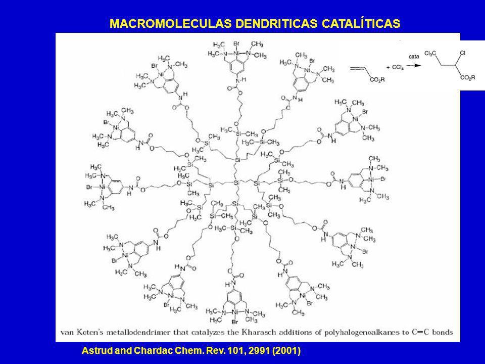 MACROMOLECULAS DENDRITICAS CATALÍTICAS