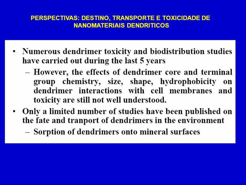 PERSPECTIVAS: DESTINO, TRANSPORTE E TOXICIDADE DE