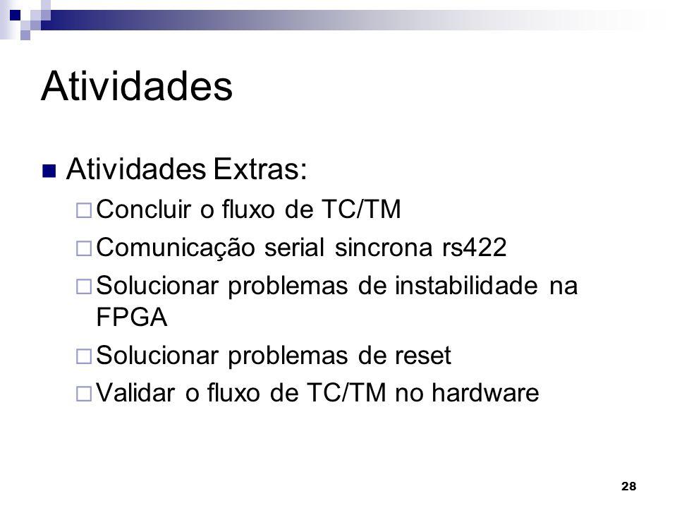 Atividades Atividades Extras: Concluir o fluxo de TC/TM