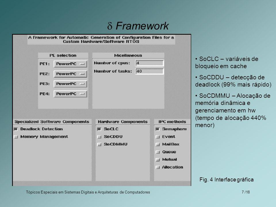  Framework SoCLC – variáveis de bloqueio em cache