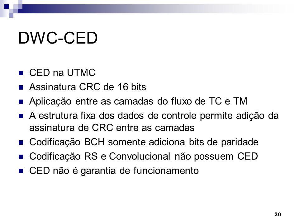 DWC-CED CED na UTMC Assinatura CRC de 16 bits
